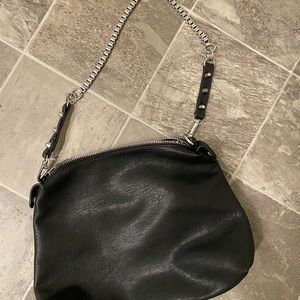 Small black and chain bag